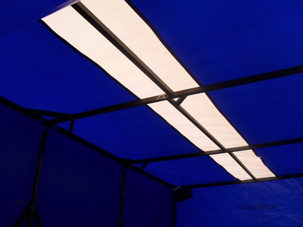Вставка из белой тентовой ткани в тент «Газели» для лучшего светопропускания
