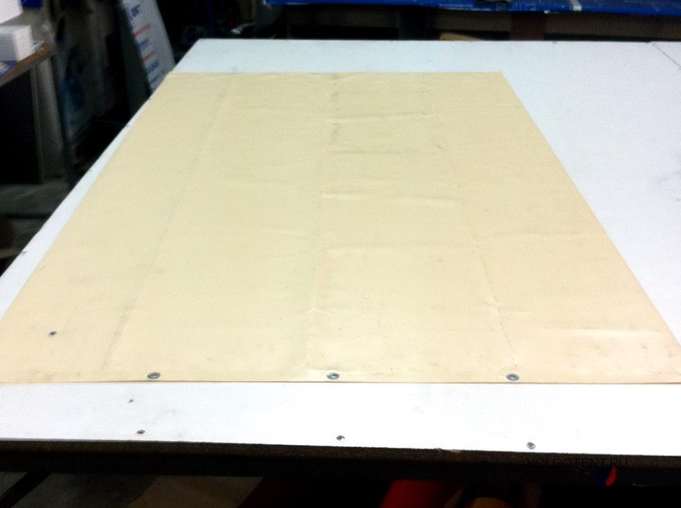 Изготовление гаражной шторы из ткани-ПВХ