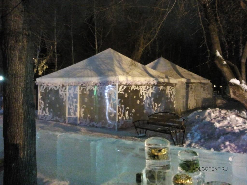 Каркасно-тентовые павильоны для зимнего отдыха