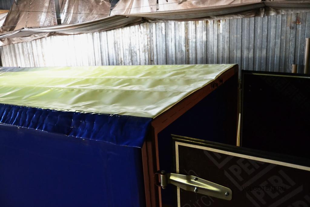 Белая крыша тента на грузовик Камаз