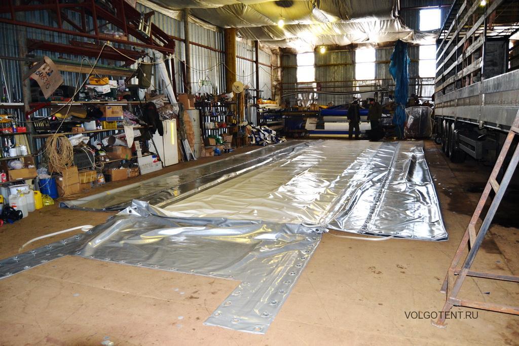 Изготовление П-образного тента на полуприцеп в Волгограде