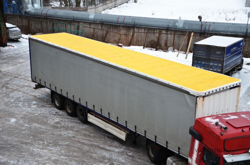 Замена тента сдвижной крыши на полуприцеп Schmitz SP 24 в Волгограде